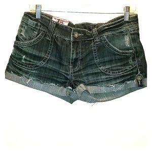 1st Kiss Edgy Jean Shorts